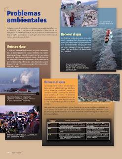 Apoyo Primaria Atlas de Geografía del Mundo 5to. Grado Capítulo 5 Lección 2 Problemas Ambientales, Efectos en el Aire, Afectos en el Agua, Efectos en el Suelo