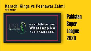 KAR vs PES Dream11 Prediction: Peshawar Zalmi vs Karachi Kings Best Dream11 Team for 15th T20 Match