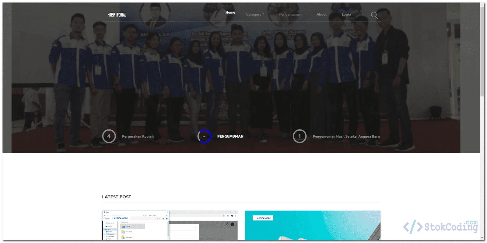 Aplikasi Web Portal Komunitas Mahasiswa (PHP)