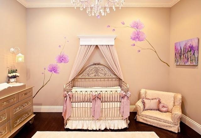 Dormitorios de lujo para beb s dormitorios colores y estilos - Papel para habitacion de bebe ...
