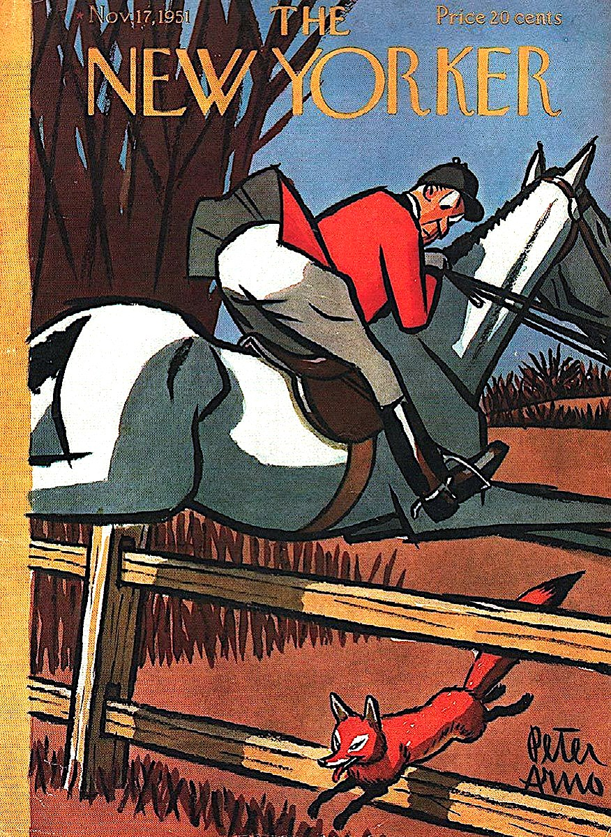 Peter Arno 1951 for the New Yorker magazine, a fox hunt