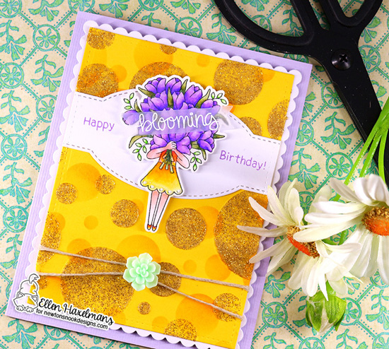 Spring card with Tulips by Nakaba Rager | Loads of Blooms Stamp Set and Bokeh Stencil Set by Newton's Nook Designs