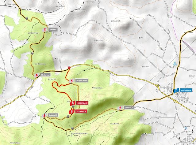 mapa topo zona codoval-quart de les valls