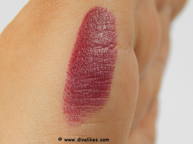 Elle 18 Color Pops Matte Lipstick Cherry Wine Swatch