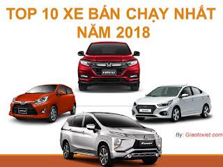 Top 10 xe mới ra mắt bán chạy 2018