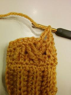 ケーブルパターンBの編み方
