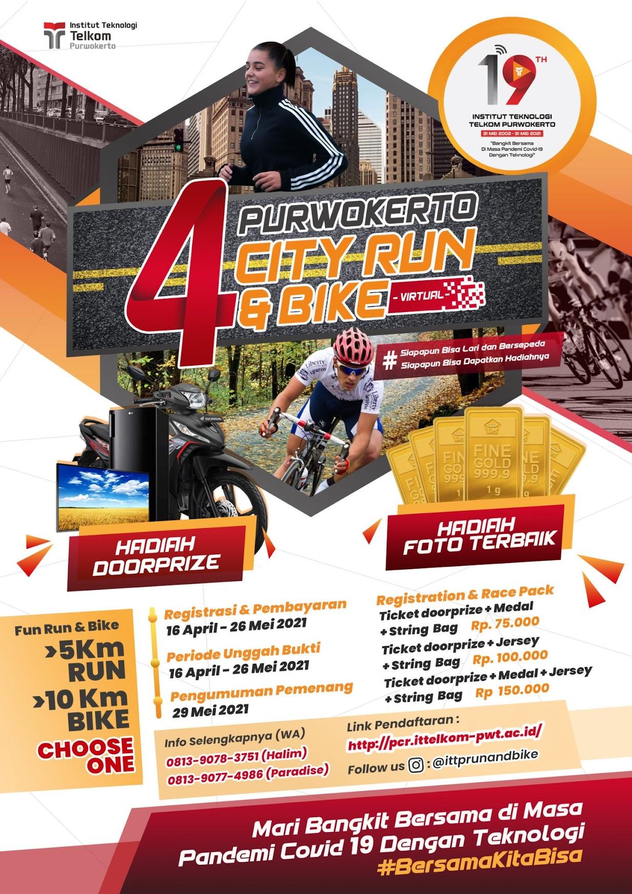 IT Telkom - Purwokerto City Run and Bike • 2021