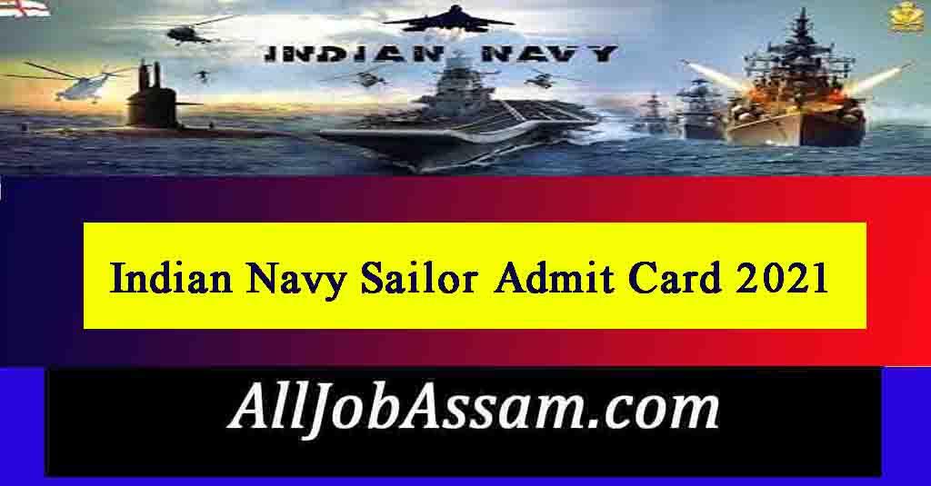 Indian Navy Sailor Admit Card 2021