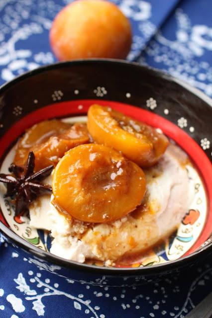 prunes aux epices et yaourt cuit