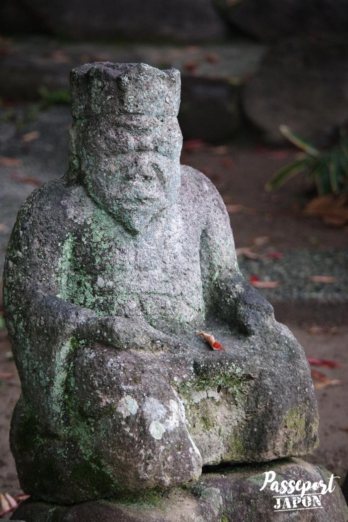 Statue à-demi effacée, Bôzu Jigoku, Beppu, Oita