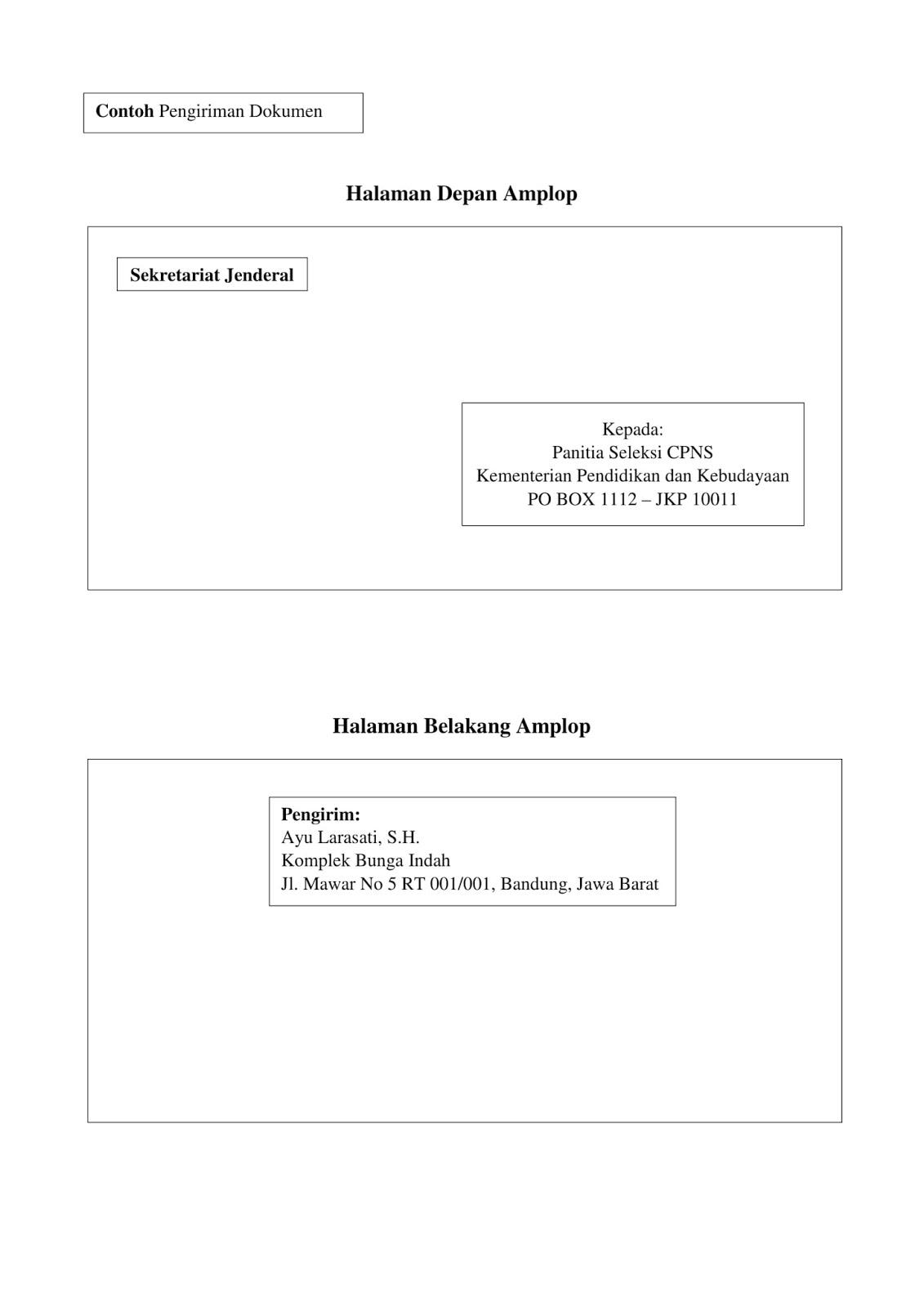 Contoh Terbaru Surat Lamaran CPNS Kemendikbud Tahun  Contoh Terbaru Surat Lamaran CPNS Kemendikbud Tahun 2018 [Beserta Cara Pengiriman Berkas]