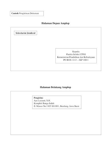 Contoh Terbaru pengiriman dokumen CPNS Kemendikbud Tahun 2017