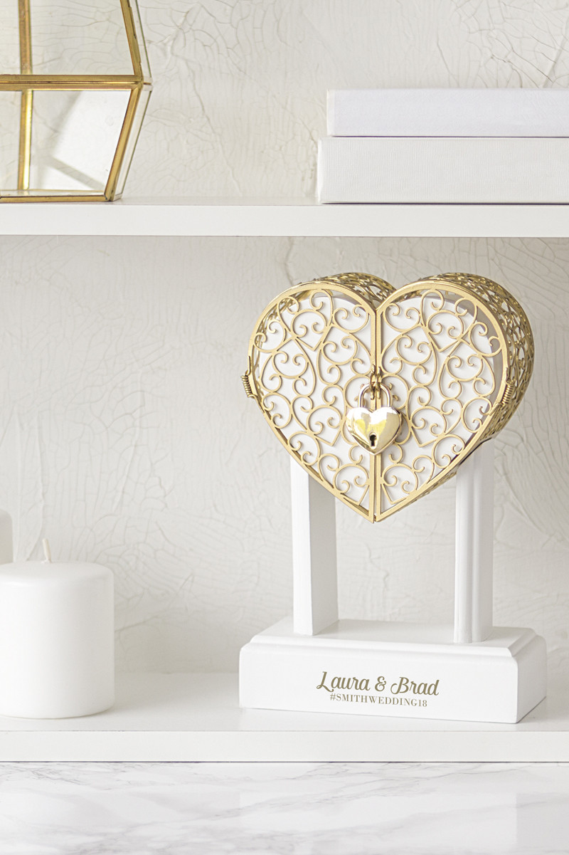 Wedding Vow Lock Box Displayed In Home