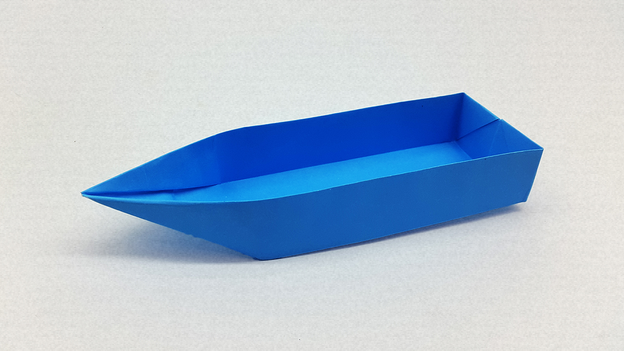 Paper Boat that Floats on Water - Origami Sailing Boat Tutorial ... | 720x1280