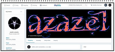 MeWe - Profil Anděla Azazela