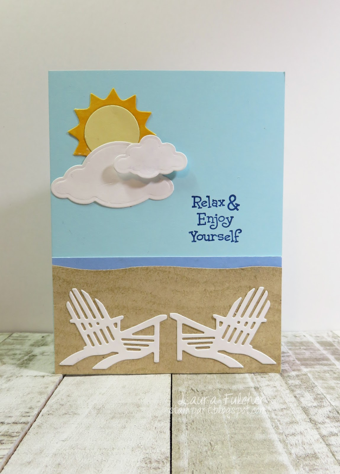 For My Moms Card I Went With A Beach Theme We Are From An Ocean Town And She Is All About The Sound Smell Sunny Days