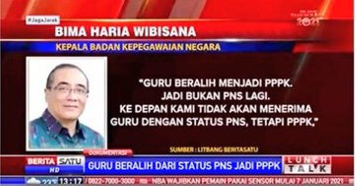 "Sikap PGRI Terhadap Pernyataan Kepala BKN ""Tidak Akan Ada Lagi Rekrutmen Guru Dengan Status PNS"