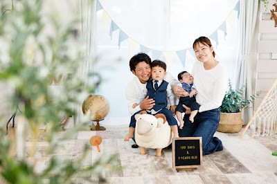 沖縄 100日祝い 写真撮影 フォトスタジオ