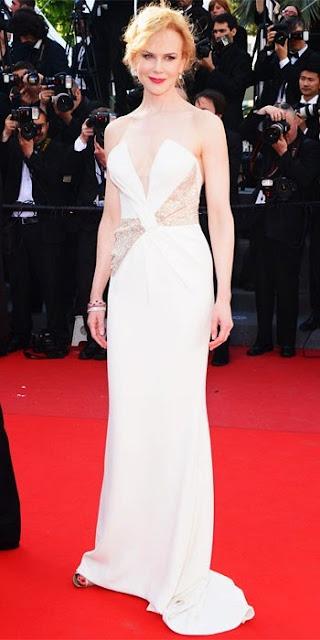 Nicole Kidman in white Giorgio Armani in Cannes 2013