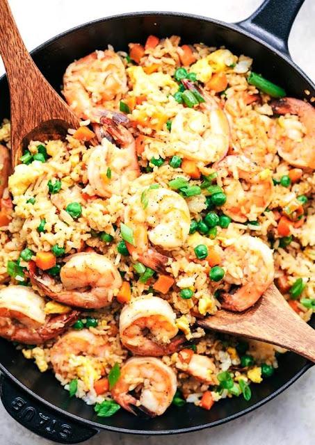 receta de arroz con camaron