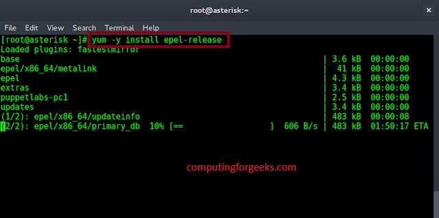 fail2ban install epel
