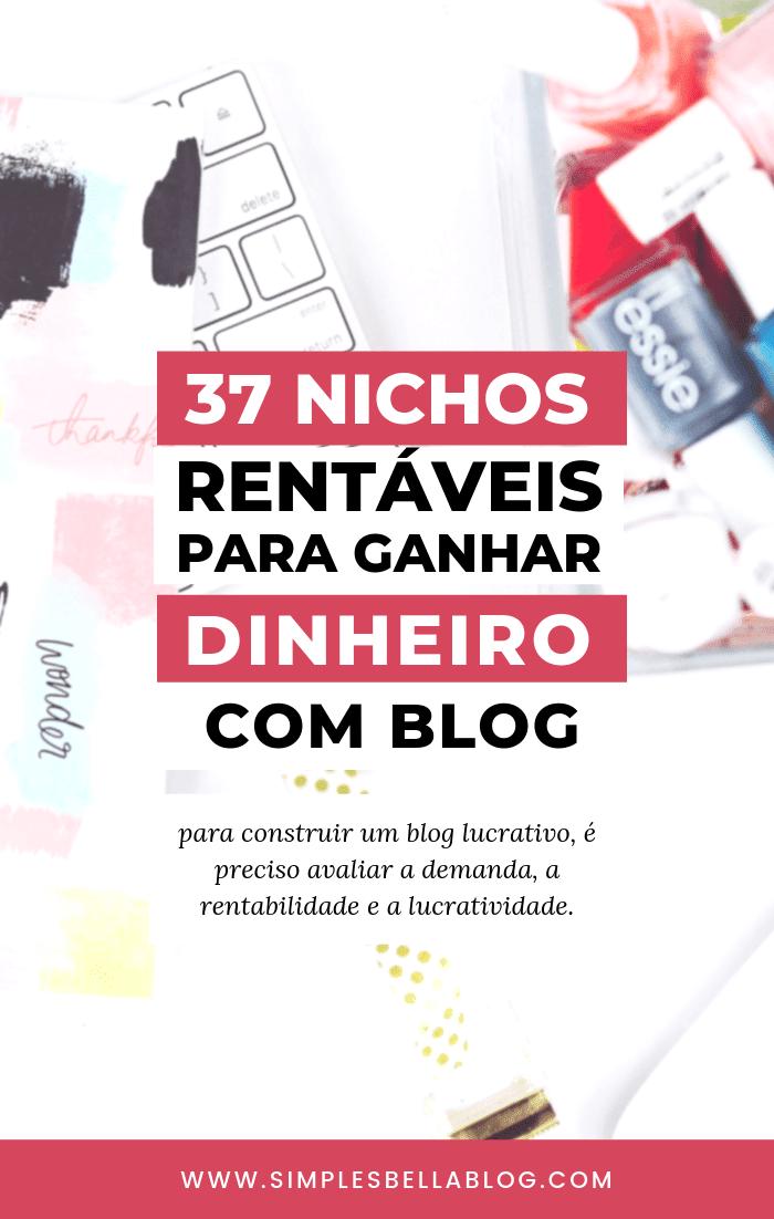 37 nichos rentáveis para ganhar dinheiro com blog