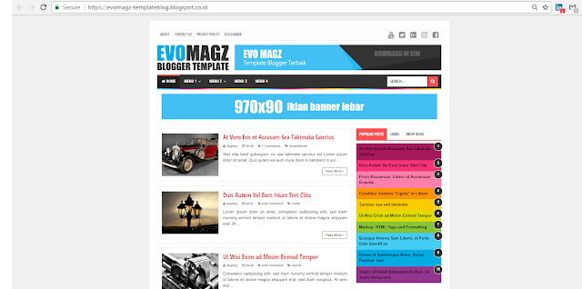 Update Template Evo Magz 4.9