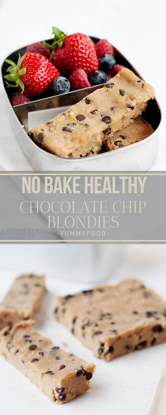 NO BAKE HEALTHY Chocolates CHIP BLONDIES
