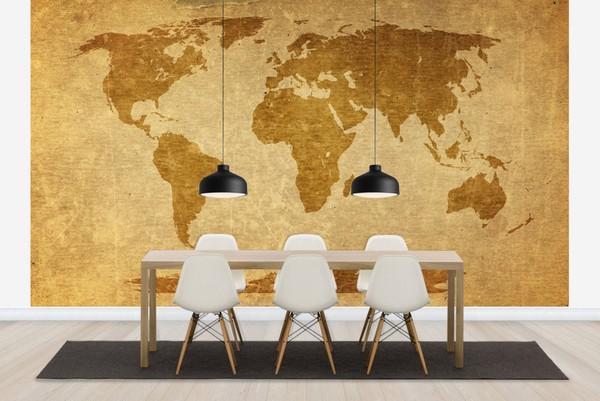 Maailmankartalle tapetti tapetti kartat beige ruskea