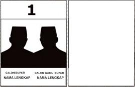Contoh surat suara untuk Pilbup Lebak 2018