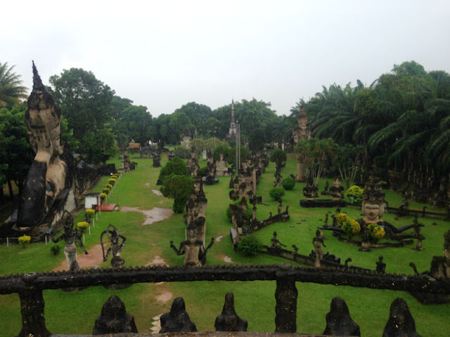 The Buddha Park Near Vientiane