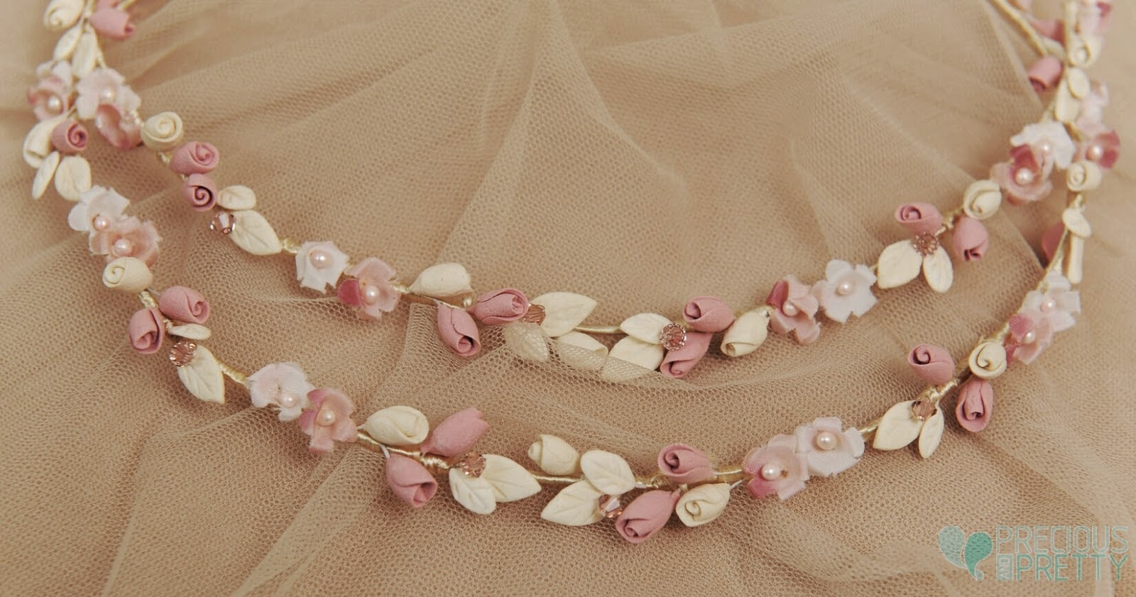 Wedding crowns with flowers romantic