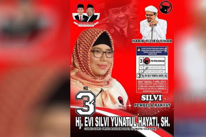 Ahaii, Ada Caleg PDIP Pasang Foto HRS Tanpa Izin! Cari Simpati Umat Islam Ya..?