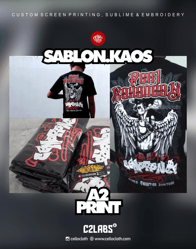 Sablon Kaos A2 Print Media Custom - Sablon Kaos Jogja