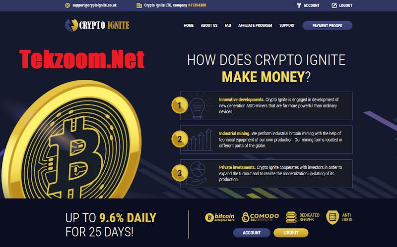 [SCAM] Review Crypto Ignite LTD - Lãi từ 1.4% hằng ngày - Đầu tư tối thiểu 0.001 BTC