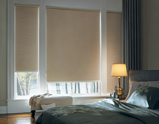 Hunter Douglas Designer Roller Shades give a contemporary and sophisticated look.