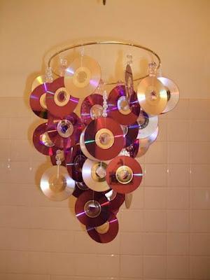 Decoração suspensa de CDs