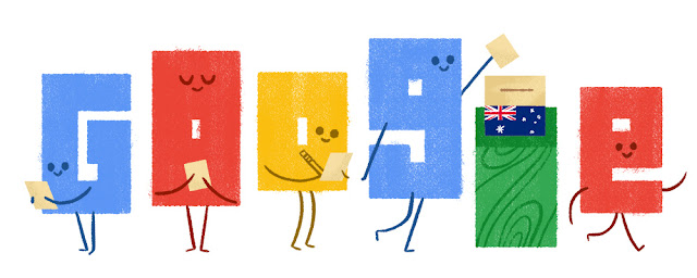 2016 Australian Federal Election - Google Doodle