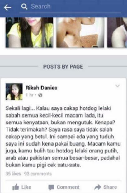 """Hotdog Lelaki Sabah Semua Kecil Macam Lada"" - Rikah Danies"