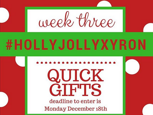 #HollyJollyXyron Hashtag Challenge: Christmas/Winter Quick Gifts