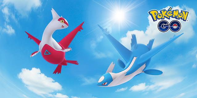 Latios e Latias em Pokémon GO