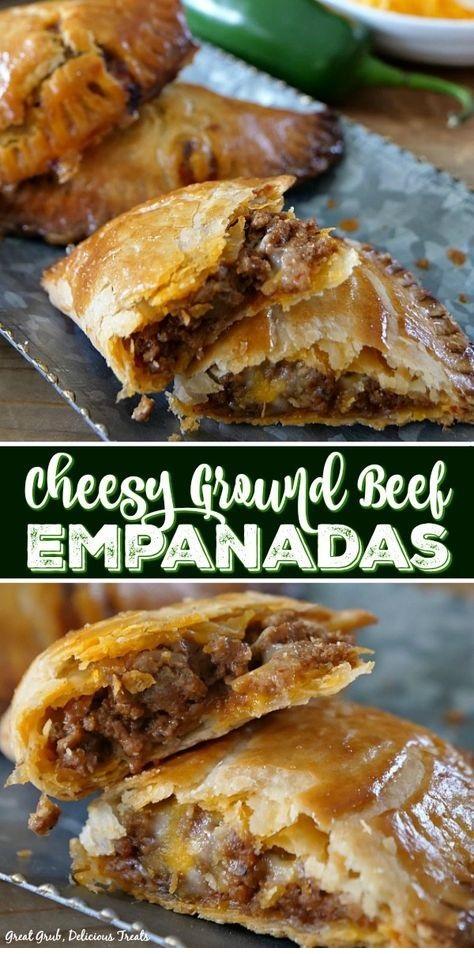 Cheesy Ground Beef Empanadas