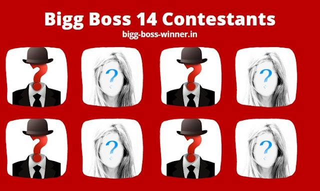 Bigg Boss 14 Contestants List names 2020