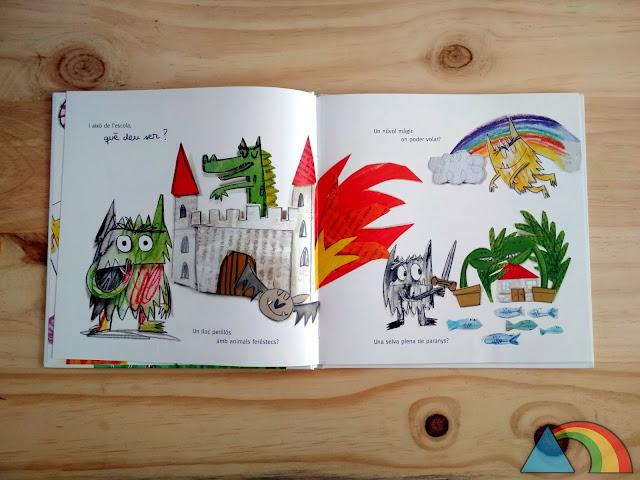 Interior del libro El monstruo de colores va al cole