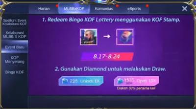 Kali ini kita akan membahas tentang game Mobile Legends Cara Mendapatkan Skin Kof Gratis Event Bingo Mobile Legends