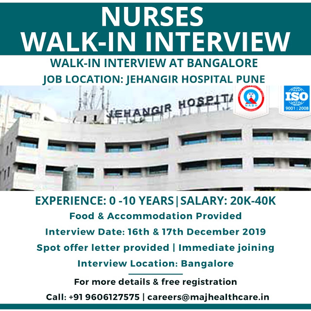 NURSES WALK IN INTERVIEW TO JEHANGIR HOSPITAL PUNE
