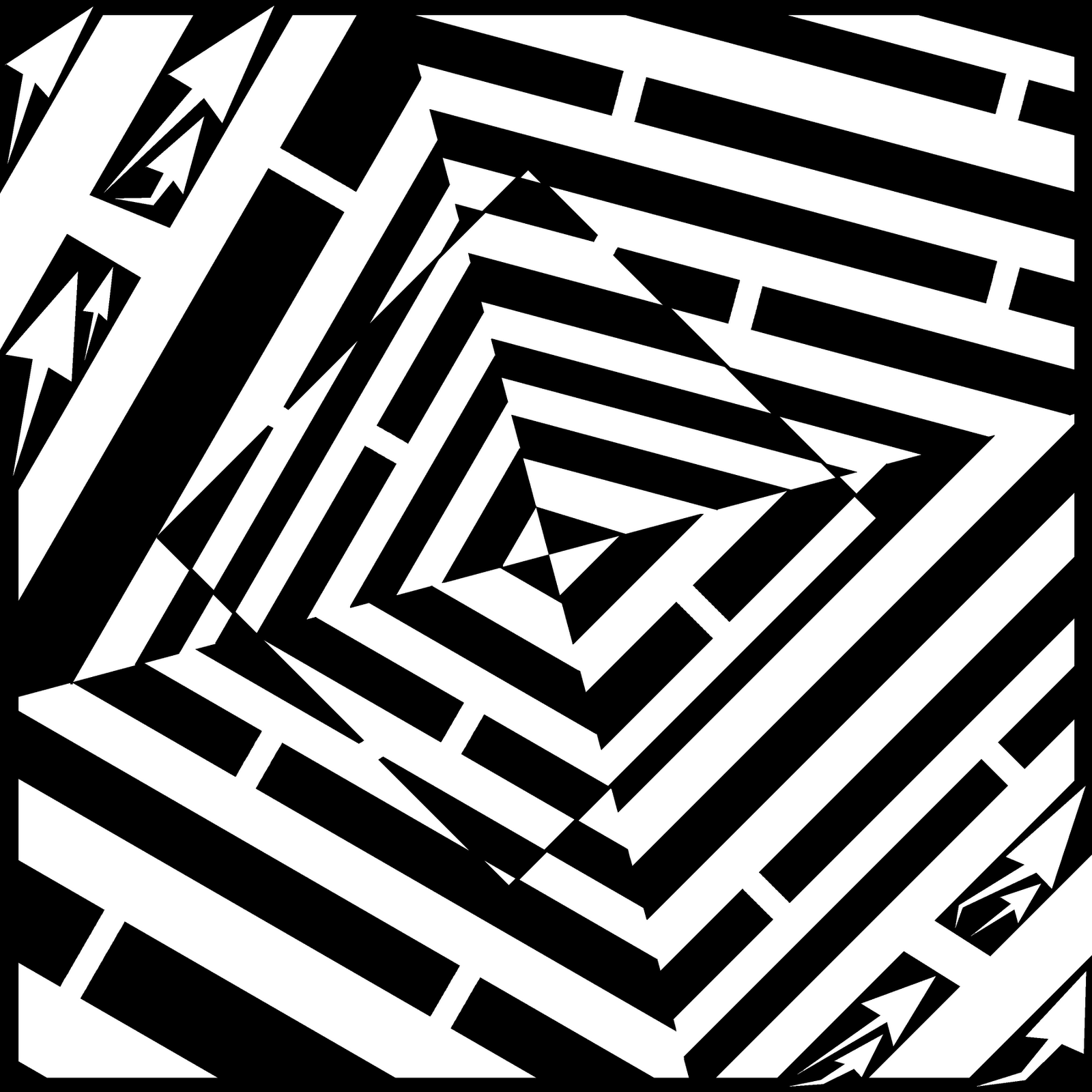 maze square artist optical frimer yonatan falling drawing illusions mazes illusion drawings medium psychedelic 20th uploaded april which