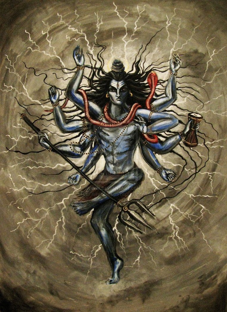 Silent adorations to Lord Siva  consort of Parvati  the destructive    Angry Shiva Tandav Wallpaper