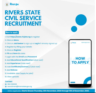 How To Apply for 5000 Rivers State Jobs Online