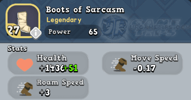 World of Legends Boots of Sarcasm